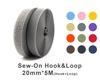 """20mm(3/4"""") Width 5 Pair Meters Sew-On Hook & Loop"""