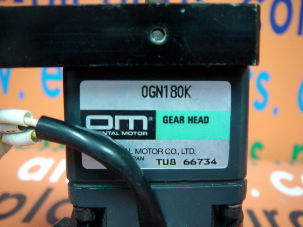 ORIENTAL MOTOR 0RK1GN-A REVERSIBLE MOTOR WITH 0GN180K GEAR HEAD