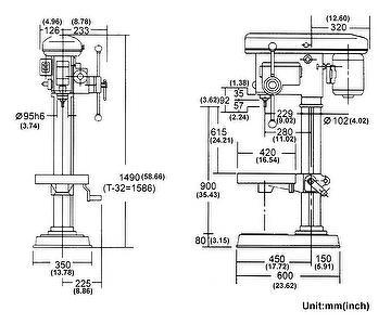 Taiwan Drilling Machine Manual HD-25   YI CHANG MACHINERY CO