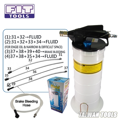 6L Air / Pneumatic fluid / Oil Extractor