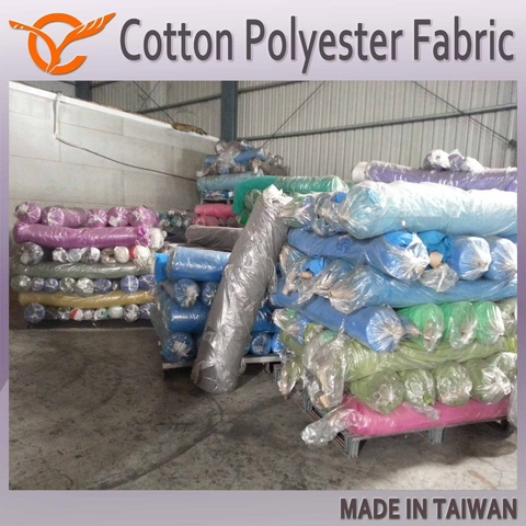 Taiwanese 75 Cotton 25 Polyester Dead Stock Fabric For Apparel