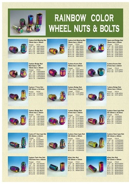 Rainbow color whell nuts & bolts