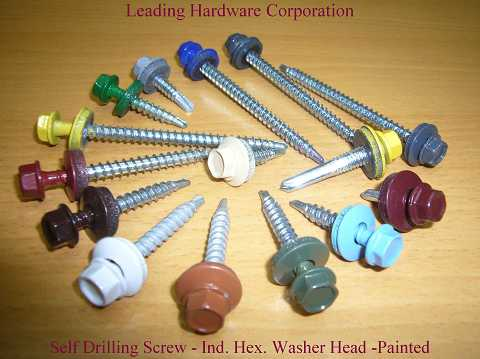 Roofing Screw, self drilling screw, painted screw