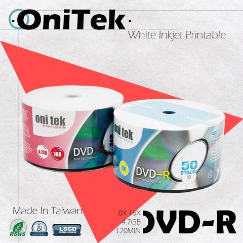 OniTek DVD-R 16X White Printable