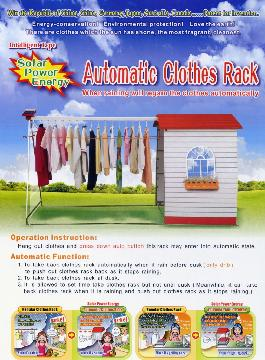 Solar-Powered Automatic Clothes Rack