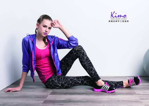 kimo blue weave exercise leisure elegant modern woman sport shoes