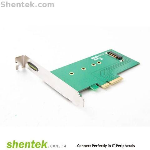 Taiwan Shentek NVMe SSD M Key To PCIe * 4 lane Card Transfer