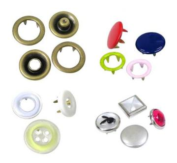 Taiwan Prong Snap Fasteners/Buttons with Various Combination