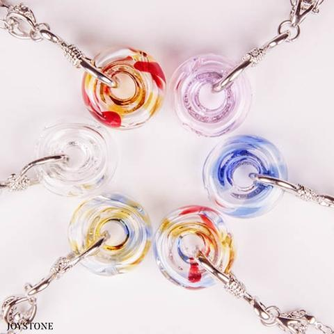Diffuser Necklaces Donut Vial 316 Stainless Steel Chain