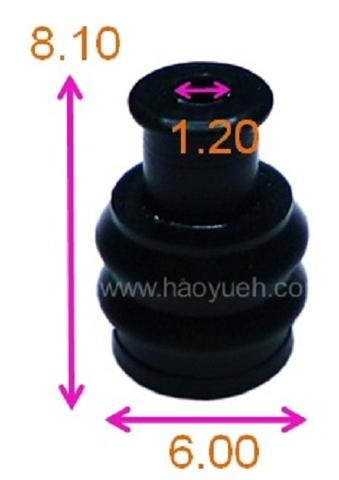 HY1327 (7157-7812), Wire Seals , Black, Yazaki.