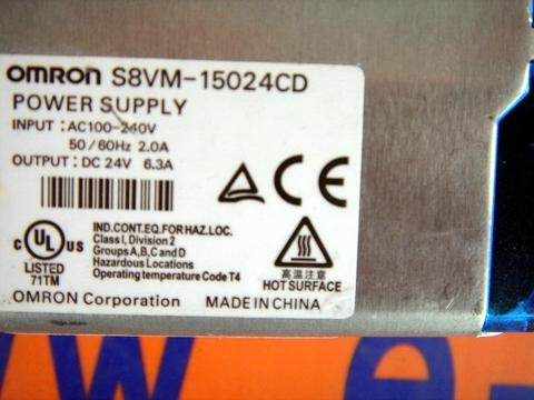 OMRON S8VM-15024CD S8VM-15024/CD POWER SUPPLY