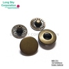 (MB1701-100) 200pcs 10mm nickel free antique brass spring snap buttons