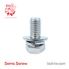 SEMS Screws and Washer Assembled Flat Washer & Spring Washer