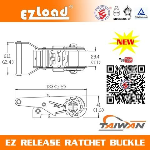EZ Release Ratchet Buckle