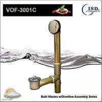 Brass Lift & Turn Drain Waste for Bathtub