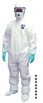 General Protection Coverall with Hood CE Type 5B/6B Certified