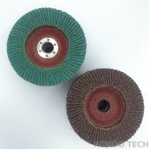 abrasive flap disc of aluminum oxide and zirconia