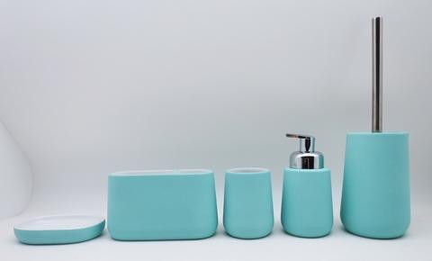 Ceramic Bathroom Set Rubber Finish