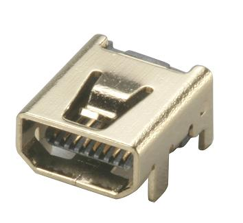 Taiwan Mini Usb 8 Pin Female Type Connector Seconn