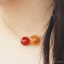 Red Onyx July Diffuser Birthstone Necklace Rose Gold S925