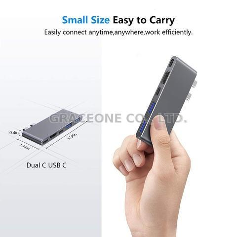 5 n 1 Dual USB Type C USB 3.1 ThunderBolt Combo Hub