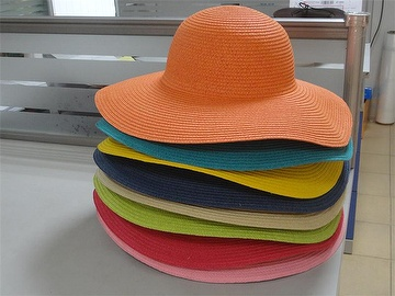 Women's Wide Brim Braided Sun Hat with All Colors