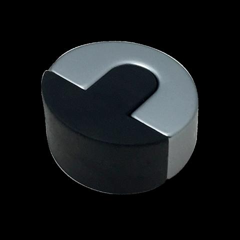 Zinc Alloy Heavy Duty Eclipse Round Rubber Door Stopper