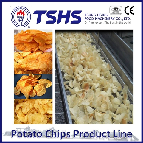 Made in Taiwan High Quality RUFFLES Potato Chips Factory Machines