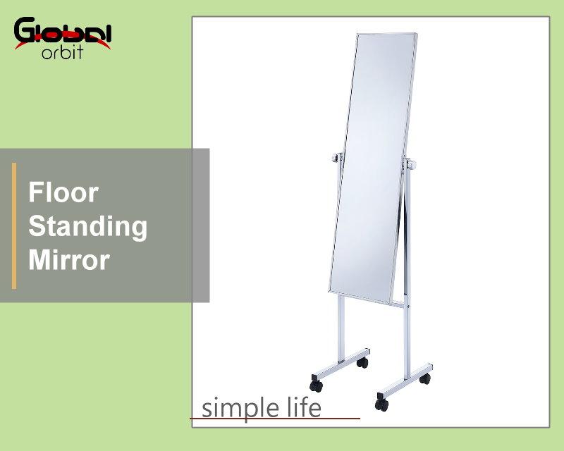 mirror on wheels. floor stand dressing mirror, standing mirror with wheels, movable on wheels 0