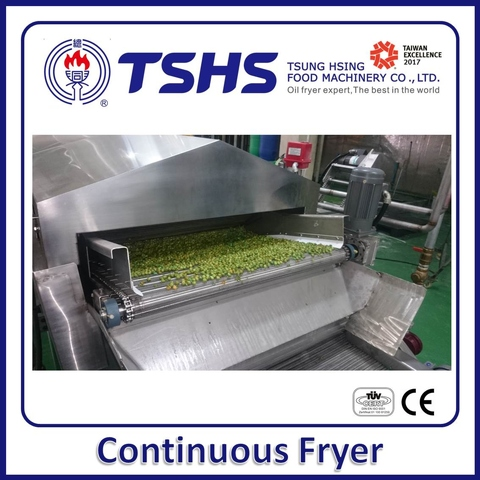 Continuous Green Peas Deep Fryer