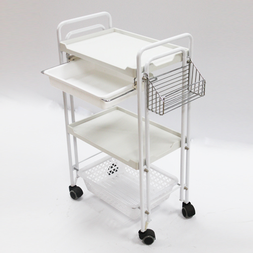 Professional Double Tube Beauty Instrument Trolley,Professional Beauty Instrument Trolley Supplier,Salon Beauty Equipment Factory,Professional Salon Furnishings Supplies Manufacturer,Salon Instrument Supplier,Hairdressing Supplies