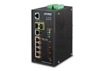 Industrial Modbus L2+ 4-Port Gigabit Ultra PoE Managed DIN-rail Ethernet Switch