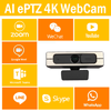 PTZ WebCam Powered by AI , Support different OS and Online SW