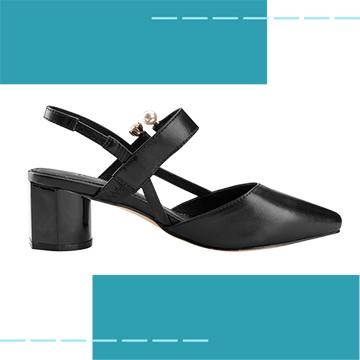 【Robinlo Studio】Delia Black_Block heels, Ankle Strap Shoes
