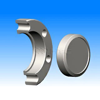 Taiwan CF Flanges - blank rotatable with tapped bolt holes - vacuum