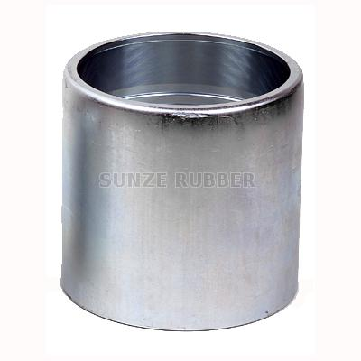 External Swage Crimped Ferrule with collar