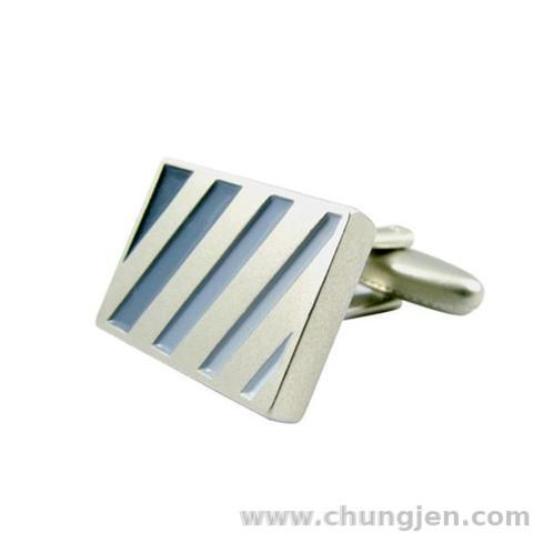 Stripe Zinc Alloy Cufflinks