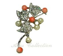 Coral Fashion Brooch