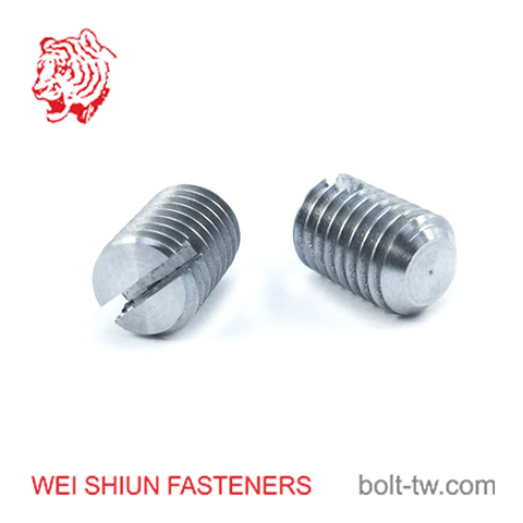 Set screw slotted flat point metric for door