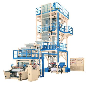 3-layer co-extrusion blown film machine, Blowing film extruder, Plastic fim extrusion, Inflation tubular film making machine