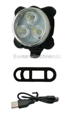 USB Rechargeable LED Bike Light (White Light/Red Light)