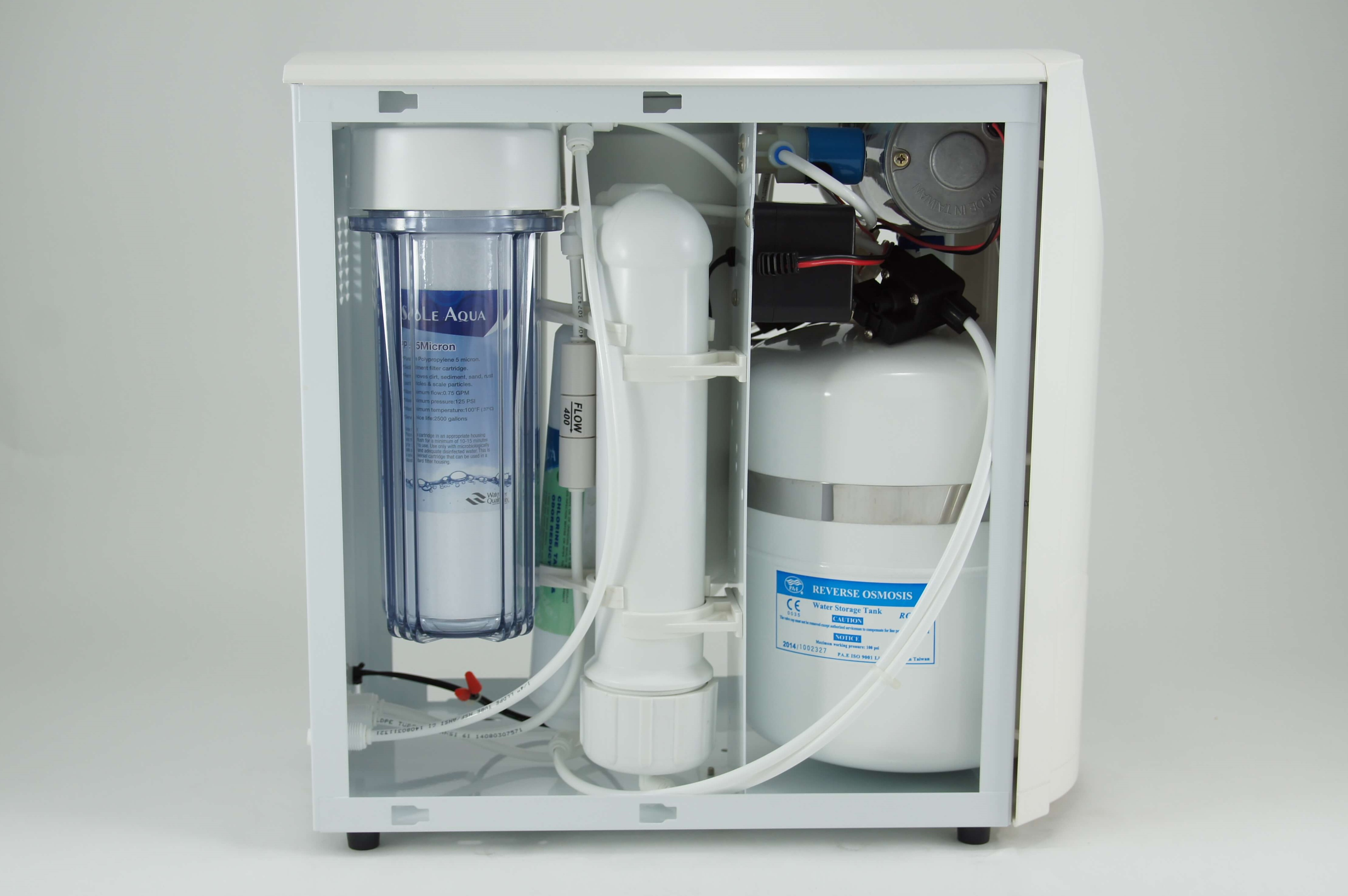 Taiwan Ce Compact Ro Under Sink Reverse Osmosis Drinking Water Nano Filter 10in 5 Mikron System
