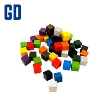 1cm Colorful Wood Cube Set