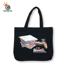 Black Canvas Bag Double-sided Pattern Customized Taiwan Wholesale