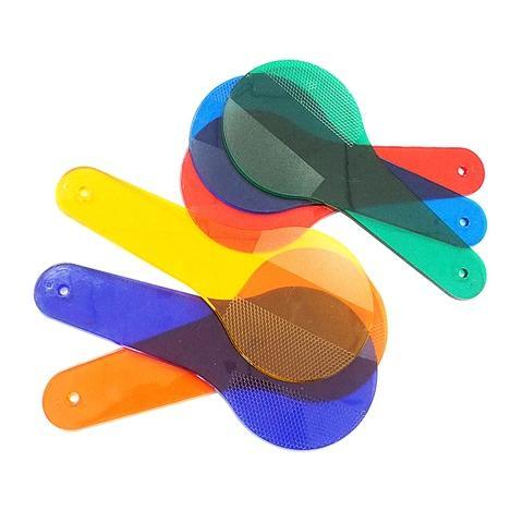 6 PCS PLASTIC colour paddles a set