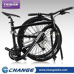 "Folding bike-Super Light CHANGE 26"" Hybrid 10.5kg DF-611MB, 100% Made in Taiwan,Size:17"