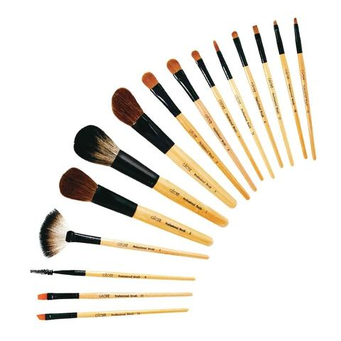 Hot Saling 15pcs makeup Nylon brush with wooden handle