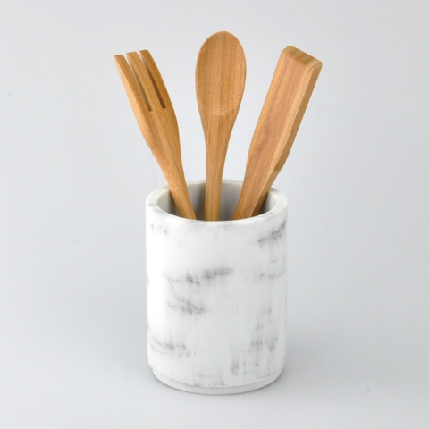 Poly Cooking Spoon Holder with Bamboo Spoon | Taiwantrade.com
