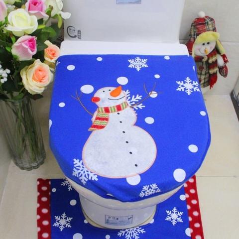 Admirable Taiwan 3Pc Christmas Festive Snowman Toilet Seat Cover Cjindustries Chair Design For Home Cjindustriesco