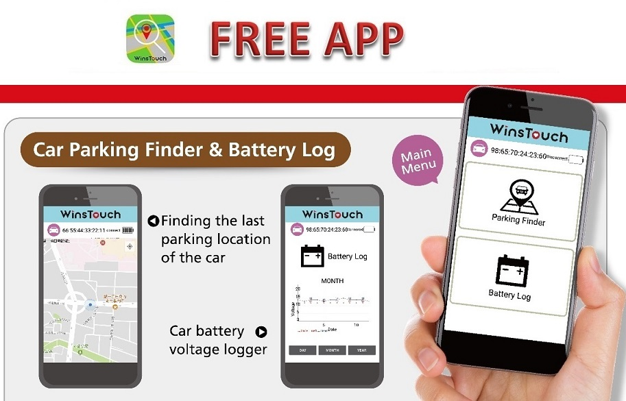 Taiwan Winstouch 3usb Car Parking Finder Charger Winstouch